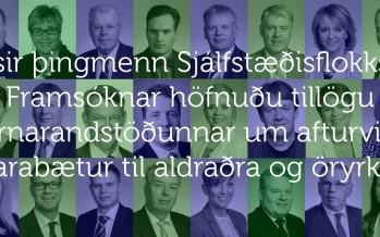 Þingmennirnir sem höfnuðu kjarabótum til aldraðra og öryrkja