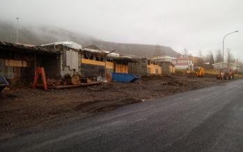 Raðhúsin við Skólaveg 98-112 Fáskrúðsfirði verða komin upp fyrir haustið
