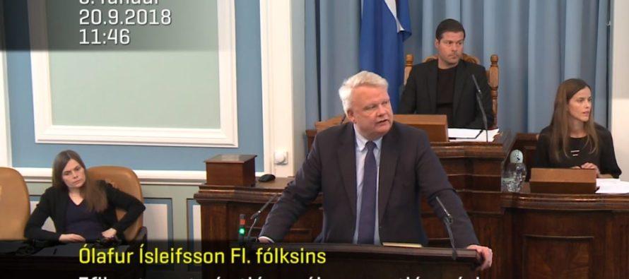 Alþingisræða Ólafs Ísleifssonar FLF – Um eflingu trausts á stjórnmálum og stjórnsýslu