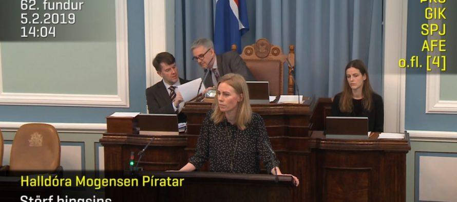 """Halldóra Mogensen  – """"Þetta er þá þriðji mánuðurinn sem vísvitandi er verið að svindla á öryrkjum"""""""
